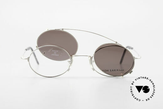 Koh Sakai KS9711 Small Oval Glasses Clip On, unworn, NOS (like all our old L.A.+ Sabae eyeglasses), Made for Men and Women