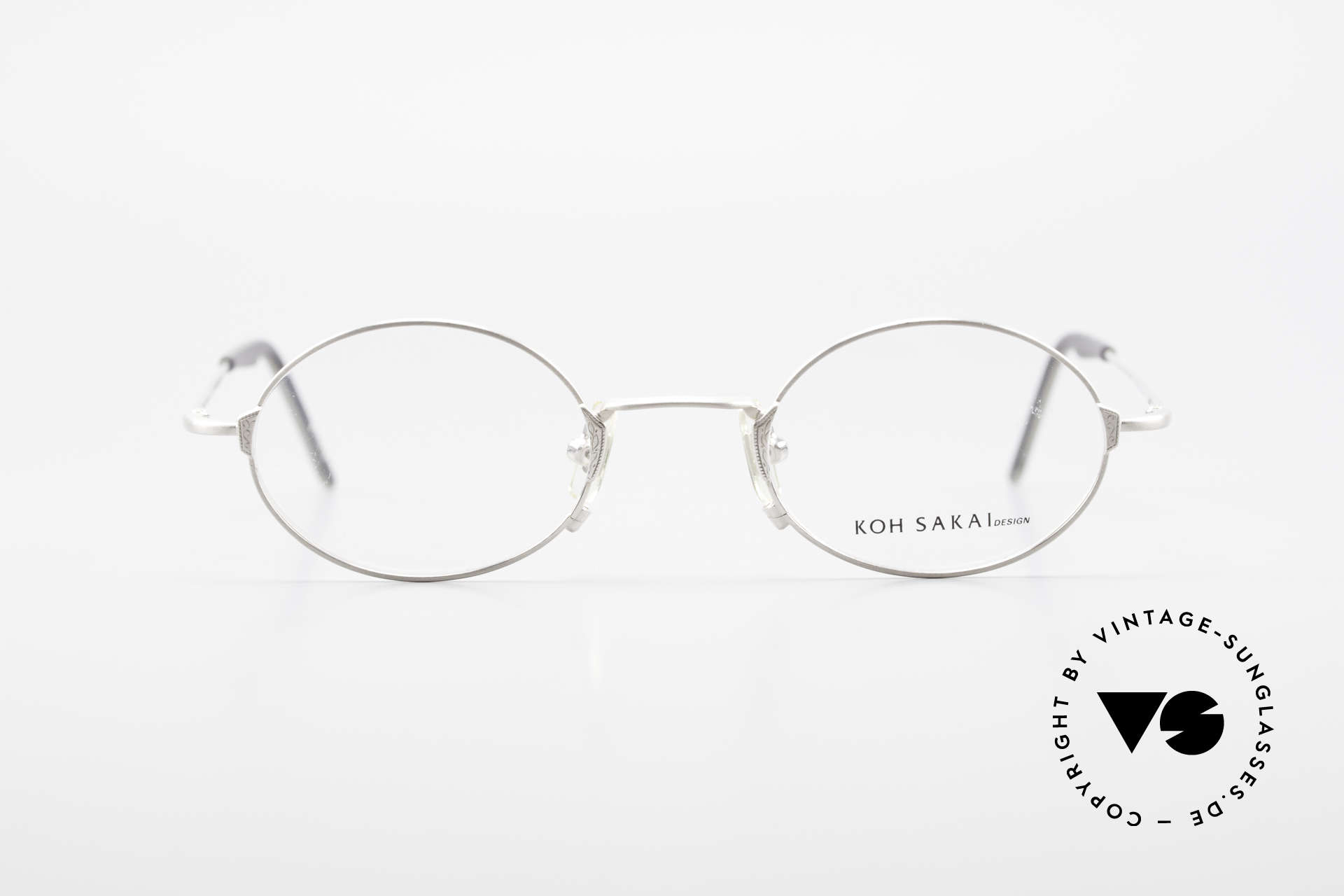Koh Sakai KS9711 Small Oval Glasses Clip On, Size: small, Made for Men and Women