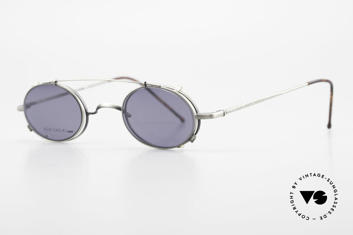 Koh Sakai KS9591 Small Oval Eyeglasses Clip On, designed in Los Angeles and produced in Sabae (Japan), Made for Men and Women