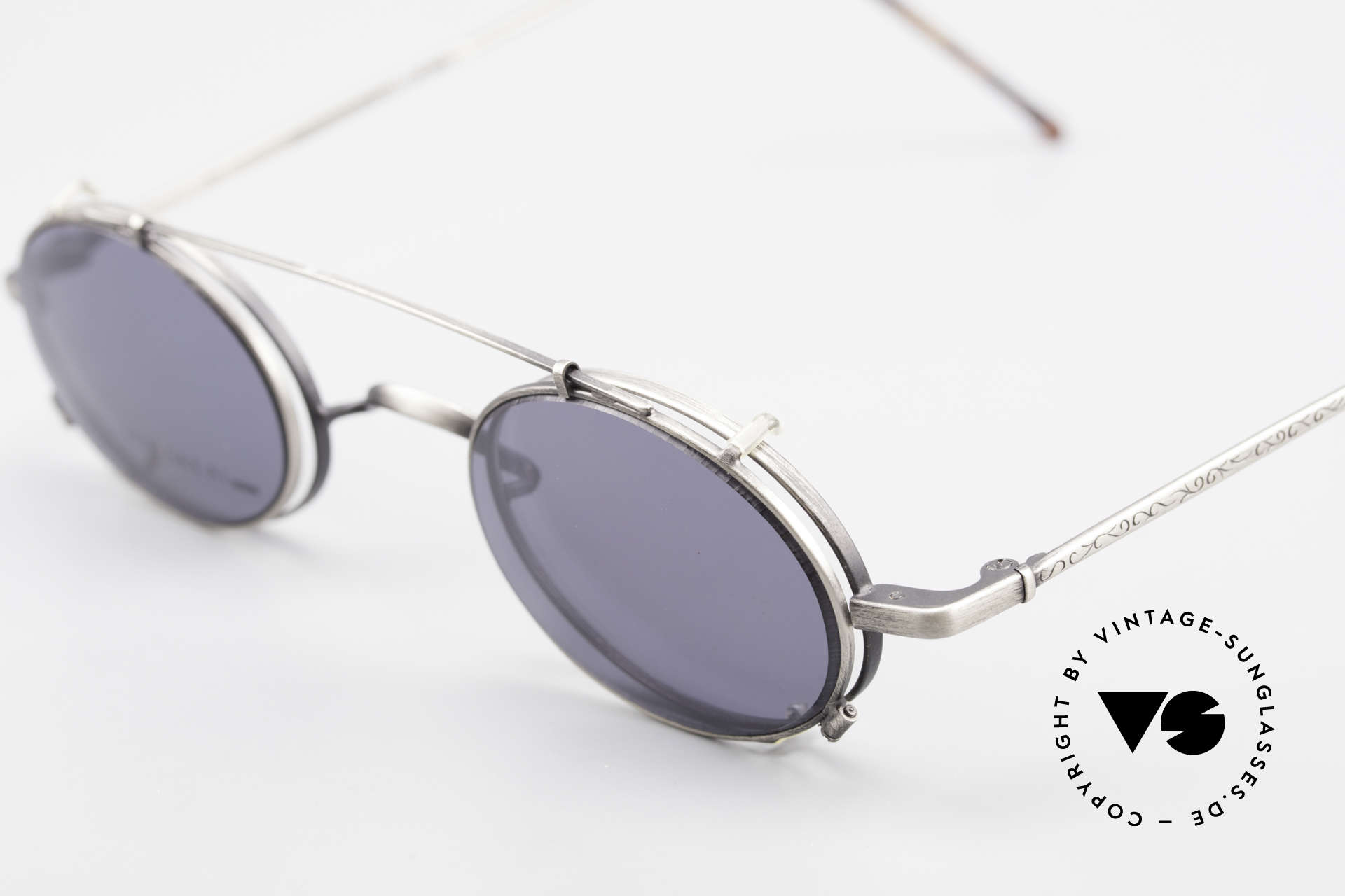 Koh Sakai KS9591 Small Oval Eyeglasses Clip On, made in the same factory like Oliver Peoples & Eyevan, Made for Men and Women