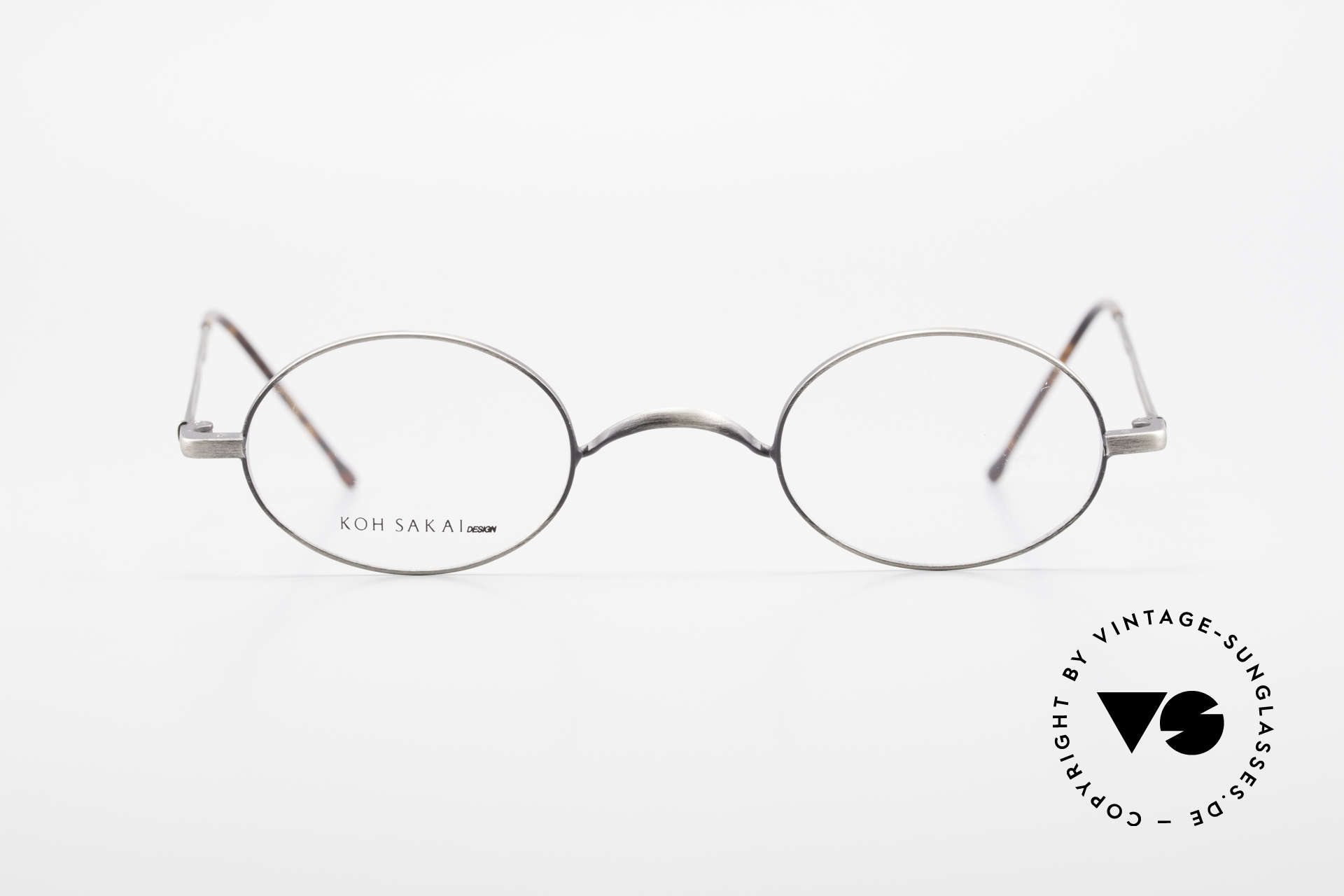 Koh Sakai KS9591 Small Oval Eyeglasses Clip On, Size: small, Made for Men and Women