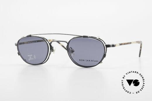 Koh Sakai KS9408 Small Eyeglasses With Clip On Details