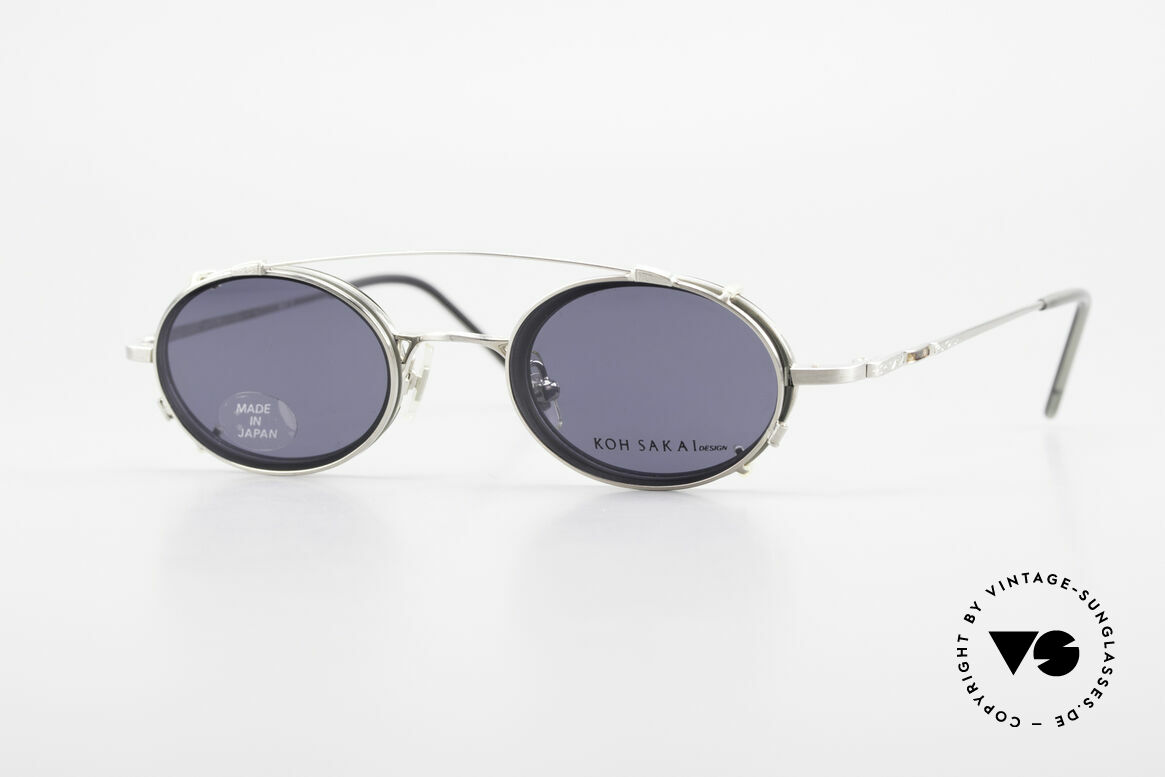 Koh Sakai KS9831 Oval 90's Frame Made in Japan, rare, vintage Koh Sakai glasses with clip-on from 1997, Made for Men