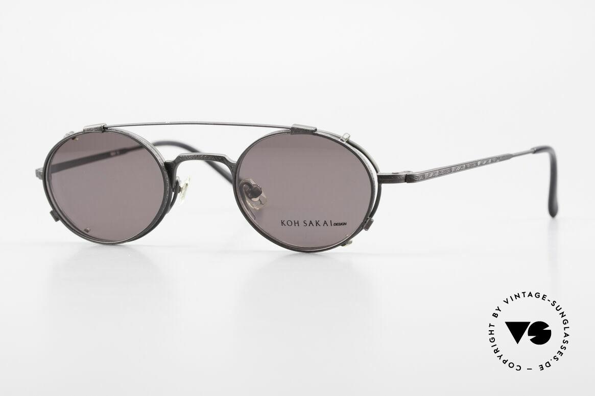 Koh Sakai KS9301 Identical Oliver Peoples Eyevan, rare, vintage Koh Sakai glasses with clip-on from 1997, Made for Men