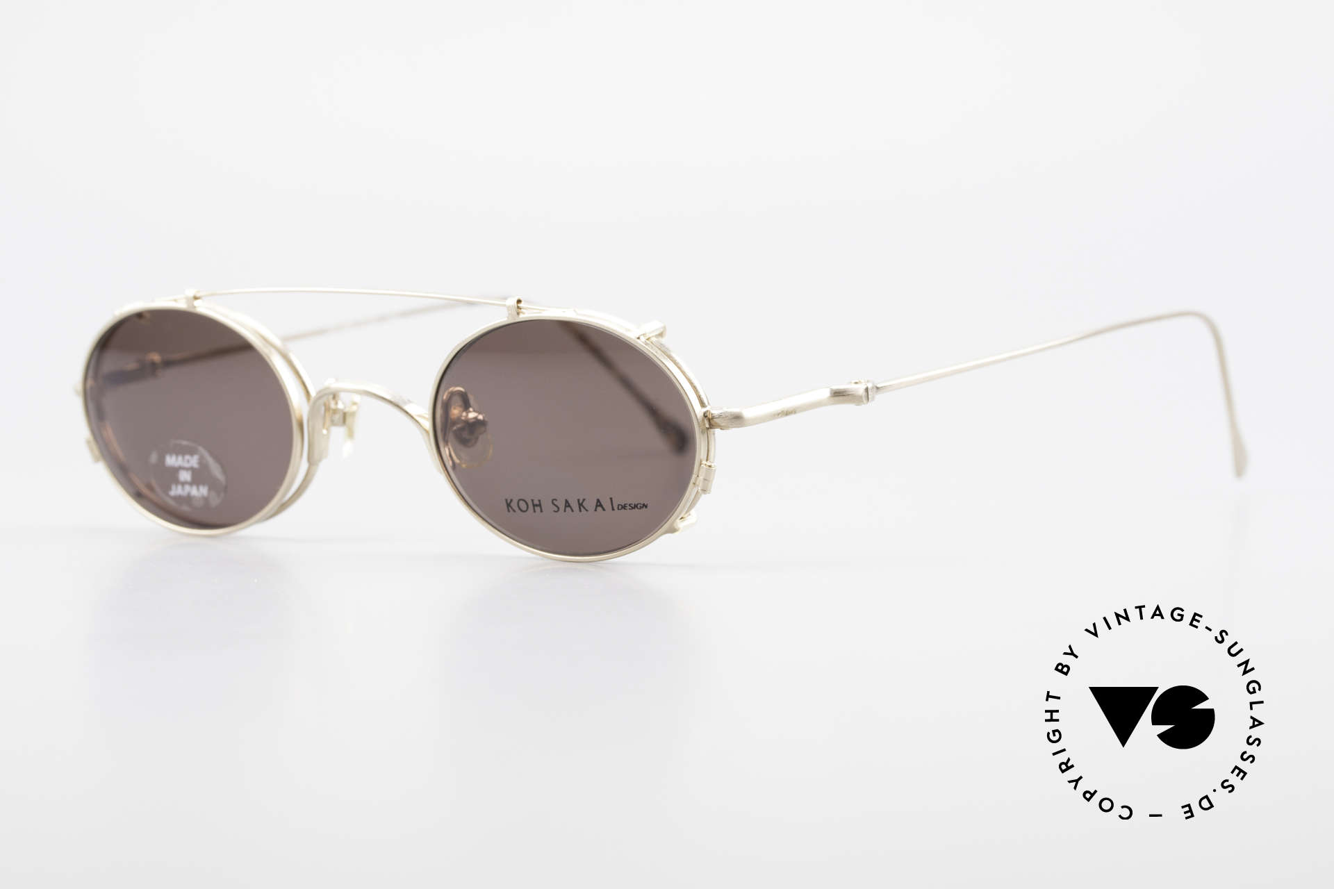 Koh Sakai KS9541 90s Oval Frame Made in Japan, designed in Los Angeles and produced in Sabae (Japan), Made for Men and Women