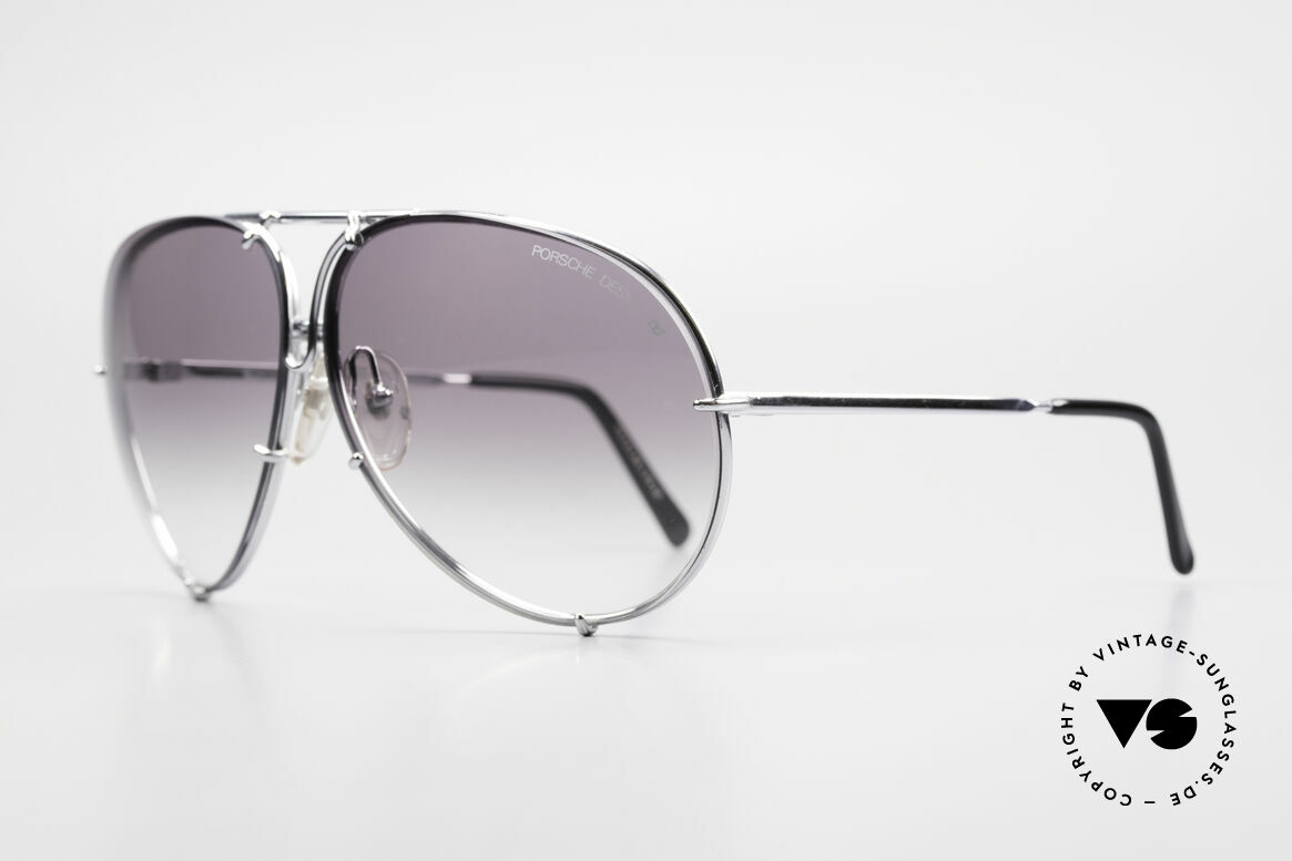 Porsche 5621 80's XL Aviator Sunglasses, the legend with interchangeable lenses; true vintage, Made for Men and Women