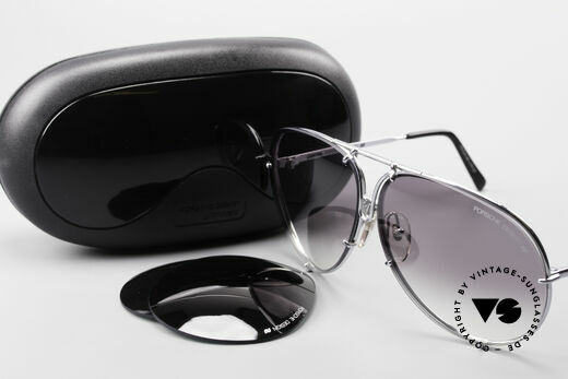 Porsche 5621 80's XL Aviator Sunglasses, XL frame with short 125mm temples = for ladies, too, Made for Men and Women