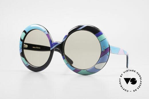 Emilio Pucci XXL Oversized 60's Sunglasses Details
