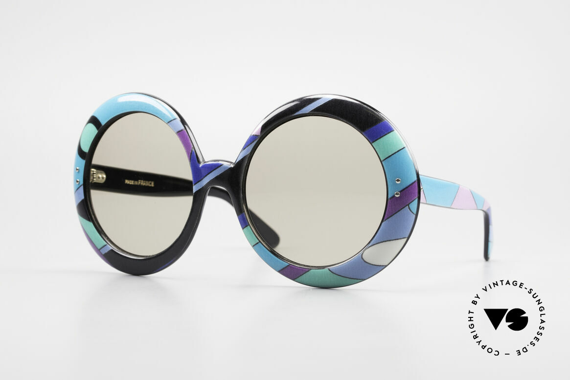 Emilio Pucci XXL Oversized 60's Sunglasses, artful VINTAGE designer sunglasses by Emilio PUCCI, Made for Women