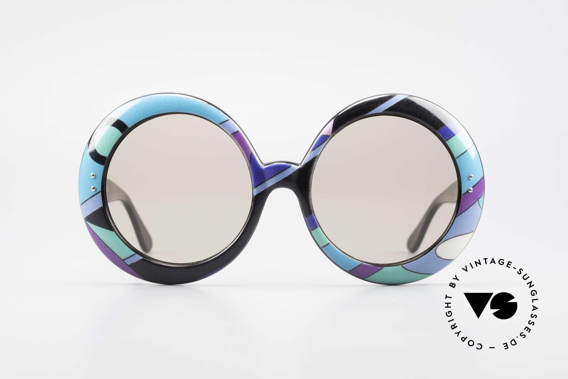 Emilio Pucci XXL Oversized 60's Sunglasses, world famous frame pattern; futuristic & sophisticated, Made for Women