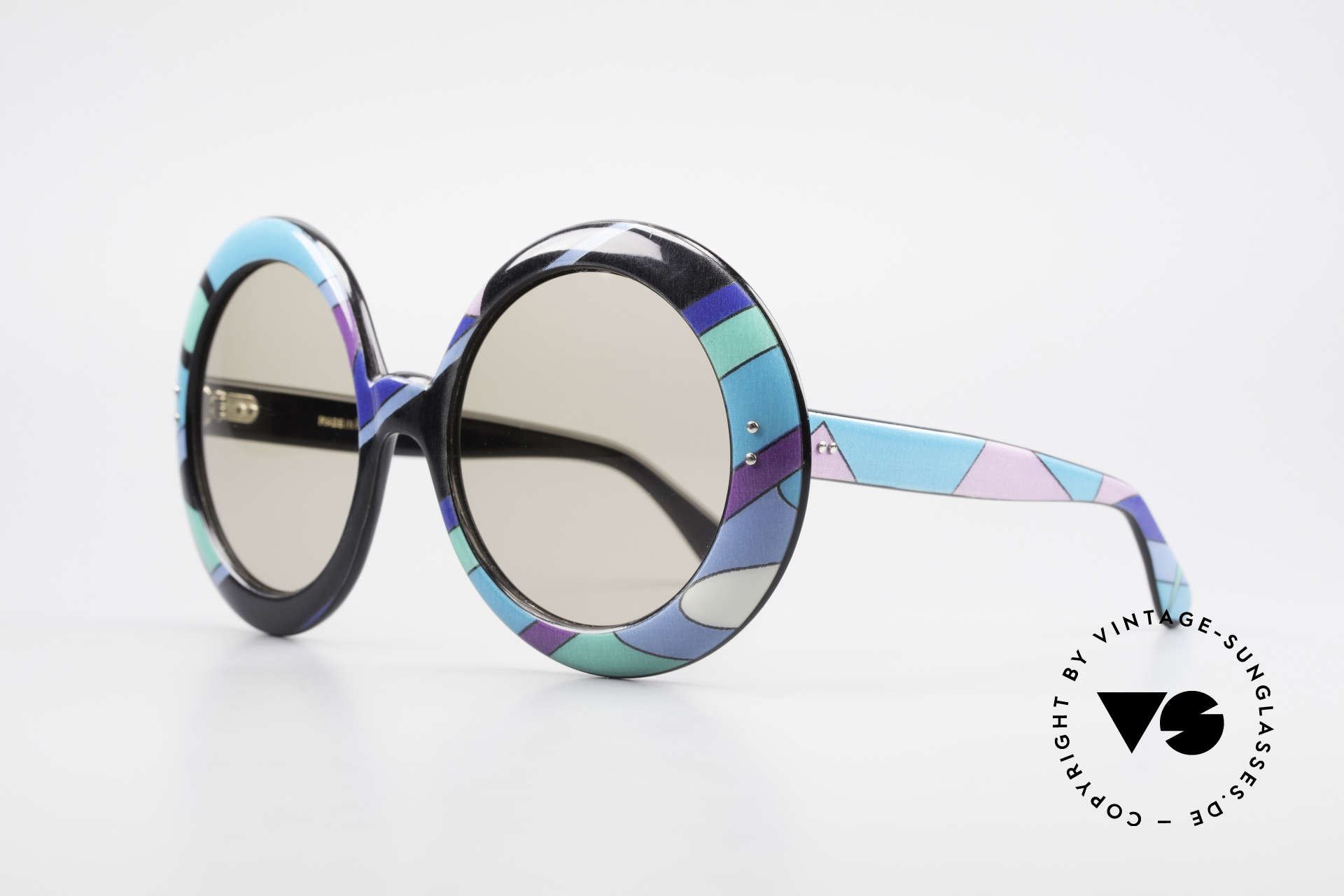 Emilio Pucci XXL Oversized 60's Sunglasses, stars like Sophia Loren, Grace Kelly, Marilyn Monroe ..., Made for Women