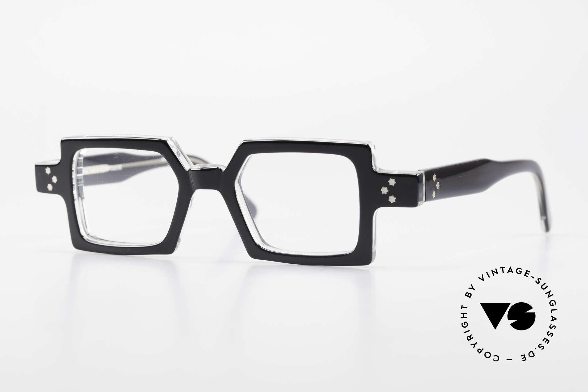 Anne Et Valentin Chico Square Old 80's Eyeglasses, vintage glasses by 'Anne Et Valentin', Toulouse, Made for Men and Women