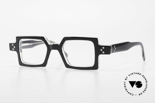 Anne Et Valentin Chico Square Old 80's Eyeglasses Details