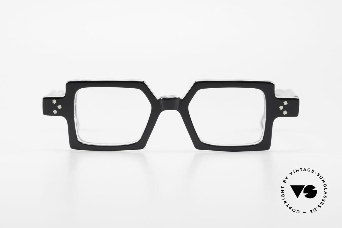 Anne Et Valentin Chico Square Old 80's Eyeglasses, the couple Anne (artist) and Valentin (optician), Made for Men and Women