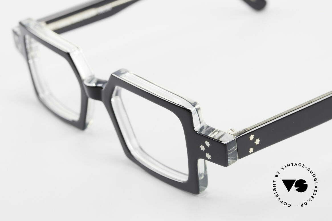 Anne Et Valentin Chico Square Old 80's Eyeglasses, made of energy, light, lines, contrasts & colors, Made for Men and Women