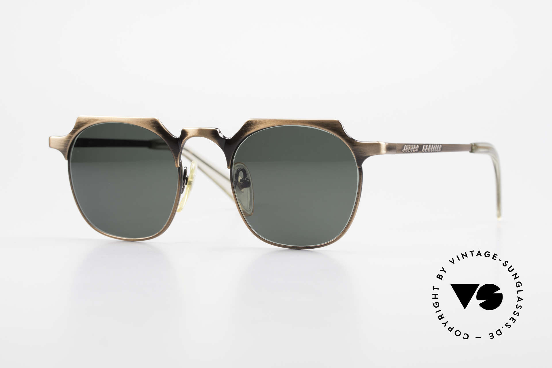 Jean Paul Gaultier 57-0171 Square Panto Sunglasses 90's, very noble vintage sunglasses by Jean Paul Gaultier, Made for Men