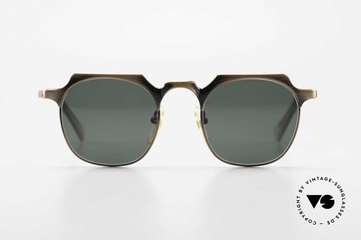 Jean Paul Gaultier 57-0171 Square Panto Sunglasses 90's, one of the top models of the Junior Gaultier Series, Made for Men