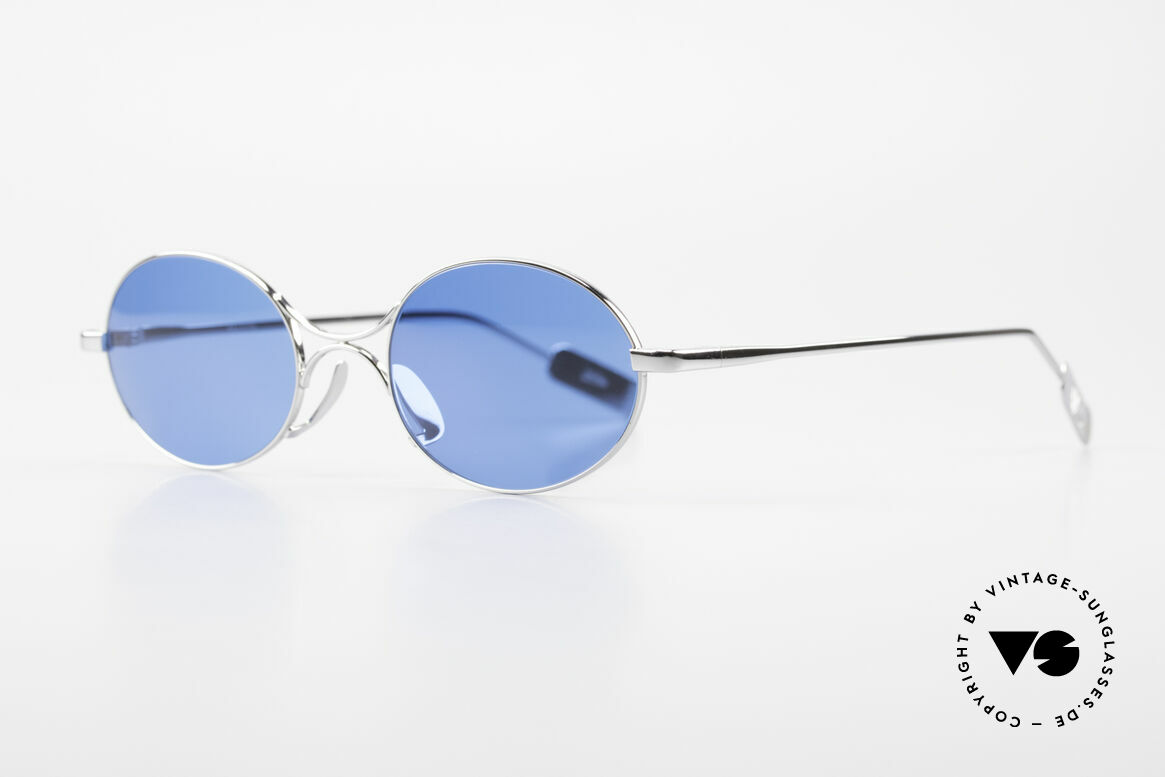 Jean Paul Gaultier 55-0173 Oval JPG Designer Sunglasses, plain form but still eccentric (distinctive J.P.G), Made for Men and Women