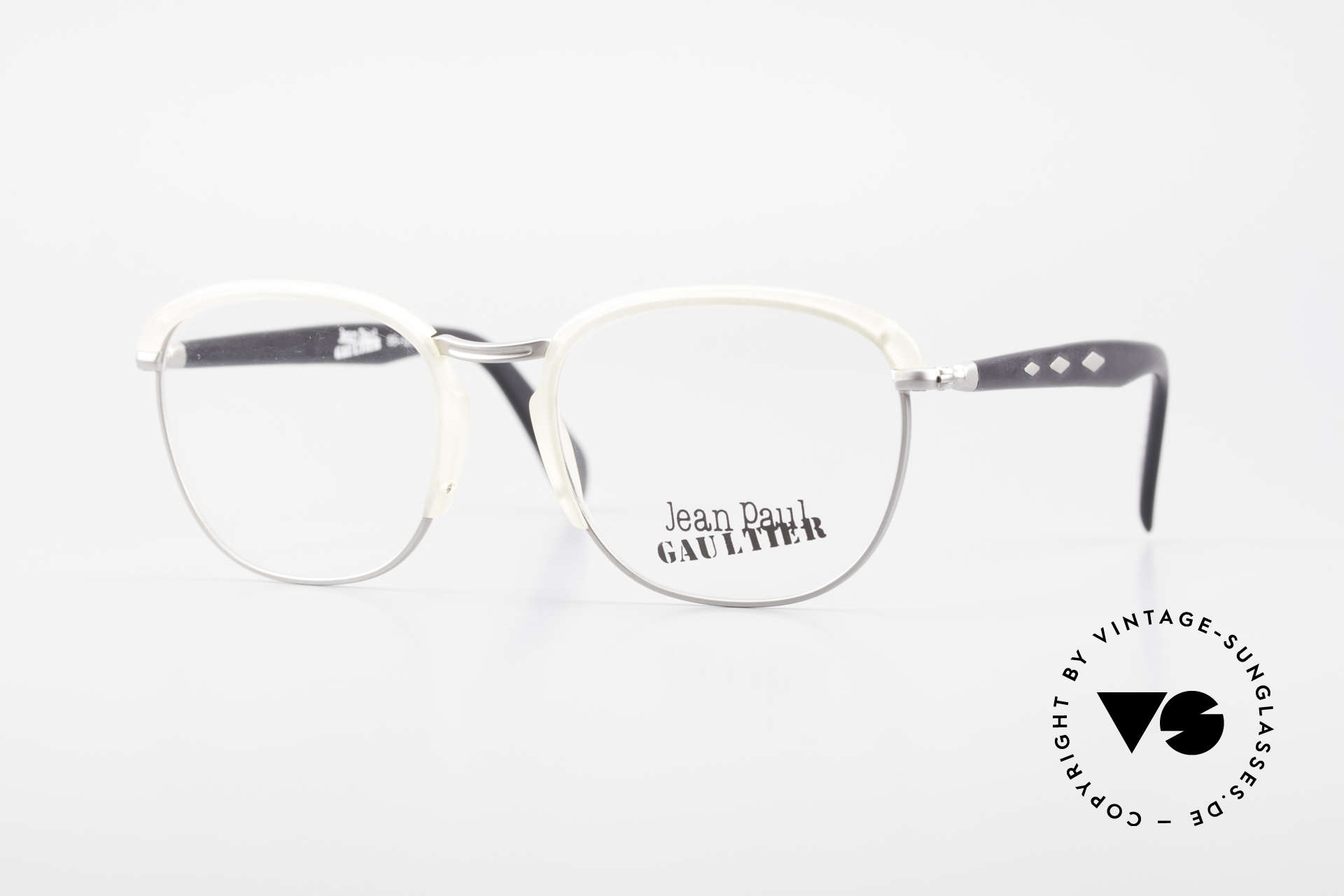 Jean Paul Gaultier 55-1273 Old Vintage 90's Specs JPG, 90's vintage Gaultier designer eyeglass-frame, Made for Men and Women