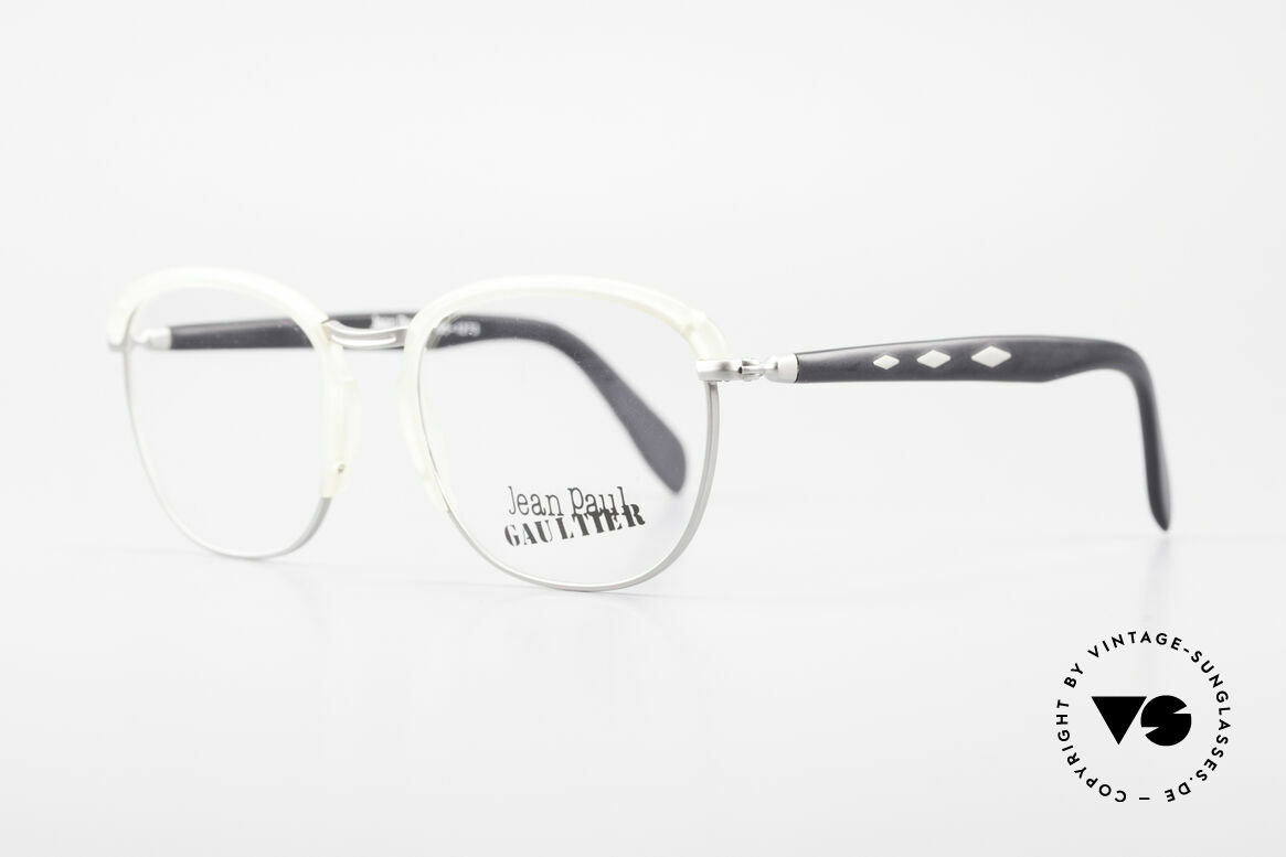 Jean Paul Gaultier 55-1273 Old Vintage 90's Specs JPG, worth seeing material combination & crafting, Made for Men and Women