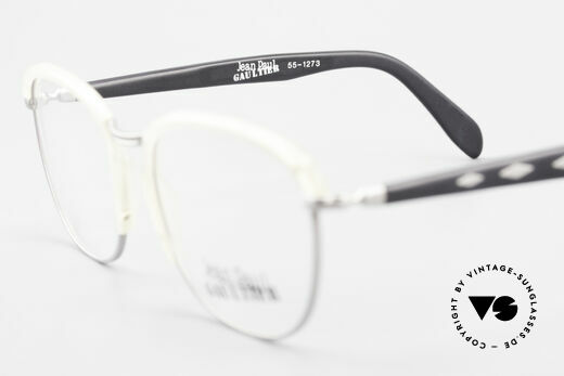 Jean Paul Gaultier 55-1273 Old Vintage 90's Specs JPG, the frame (medium size) is made for prescriptions, Made for Men and Women