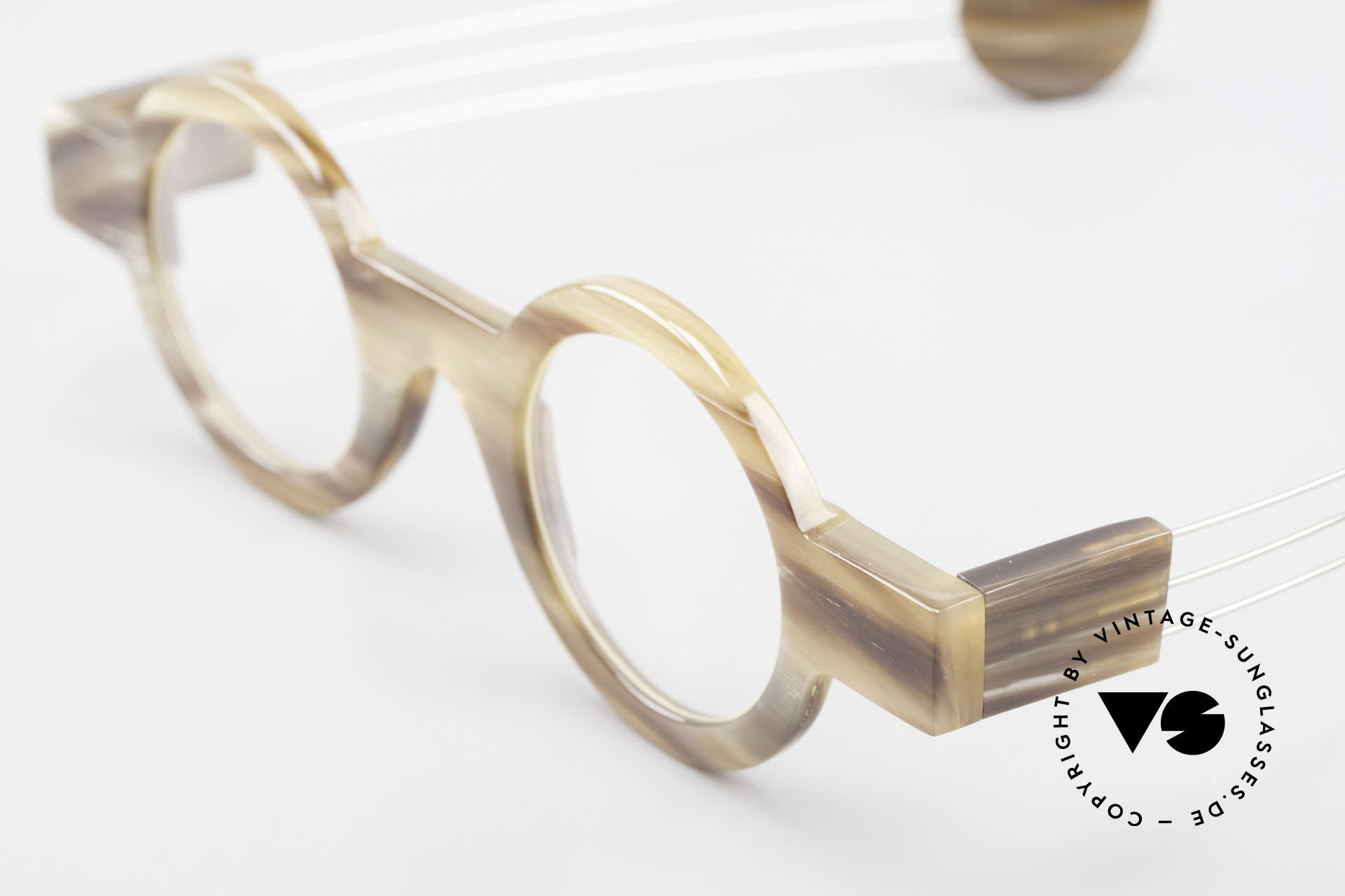 P. Klenk Bold 022 Horn Frame Twistable Temples, article of virtu - collector's item - museum piece - vertu, Made for Men and Women