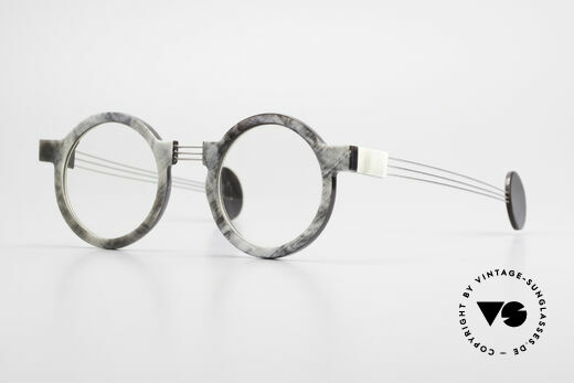 P. Klenk String 027 Genuine Horn Glasses Panto Details
