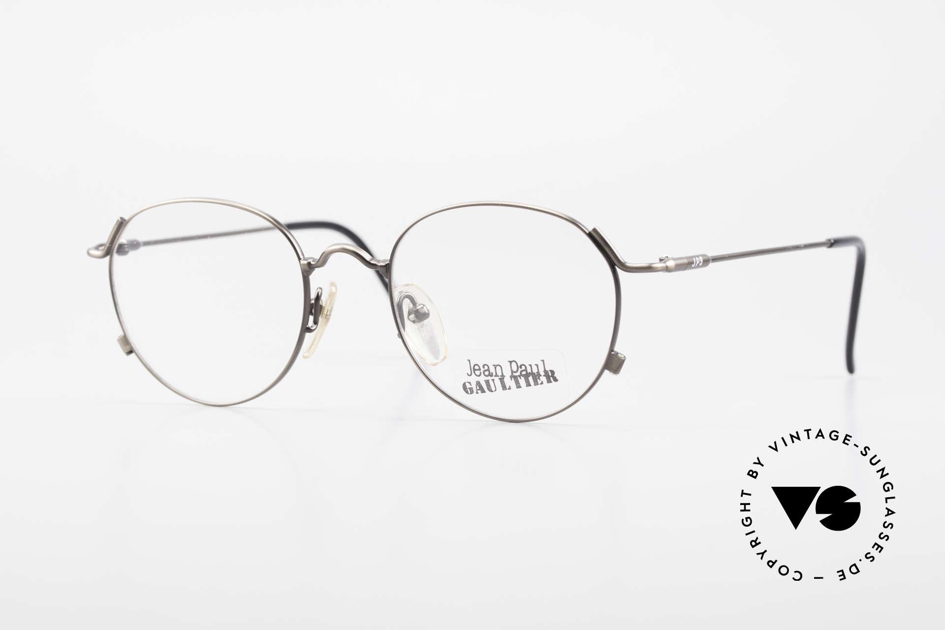 Jean Paul Gaultier 55-2176 JPG Panto Glasses 90s Original, unique designer frame by Jean Paul GAULTIER, Made for Men and Women
