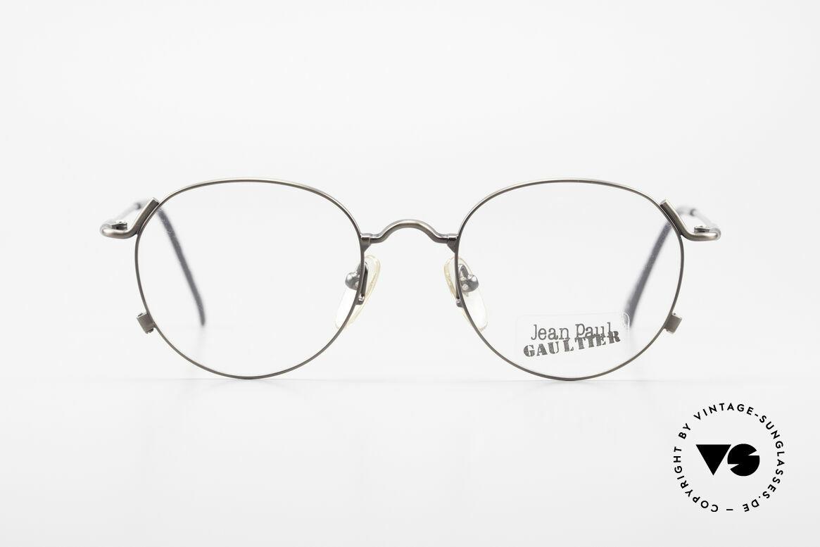Jean Paul Gaultier 55-2176 JPG Panto Glasses 90s Original, timeless vintage eyeglasses, sober and elegant, Made for Men and Women