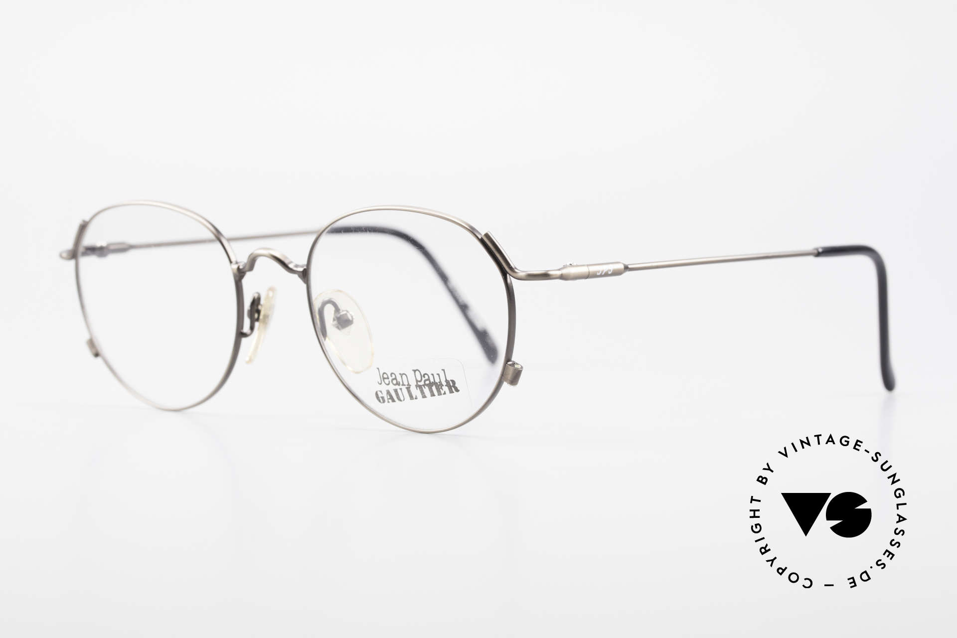 """Jean Paul Gaultier 55-2176 JPG Panto Glasses 90s Original, extraordinary frame finish in """"taupe metallic"""", Made for Men and Women"""