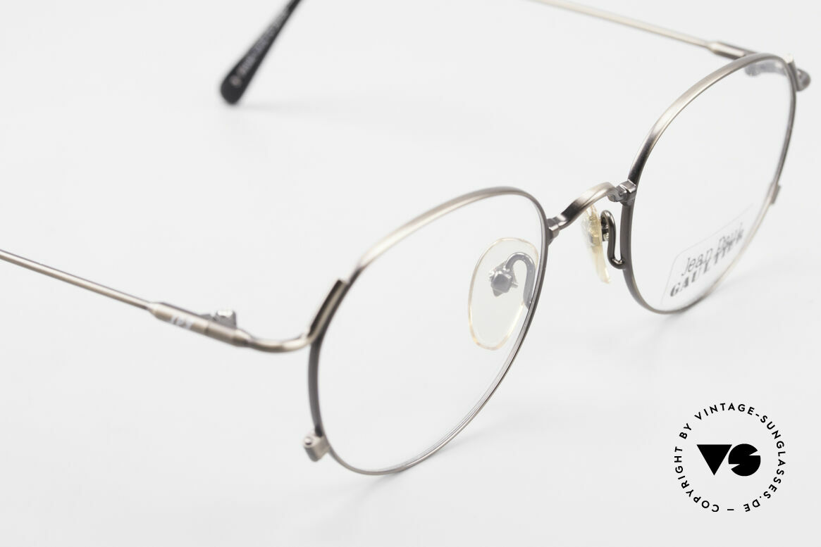 Jean Paul Gaultier 55-2176 JPG Panto Glasses 90s Original, NO retro glasses, but an old original from 1998, Made for Men and Women