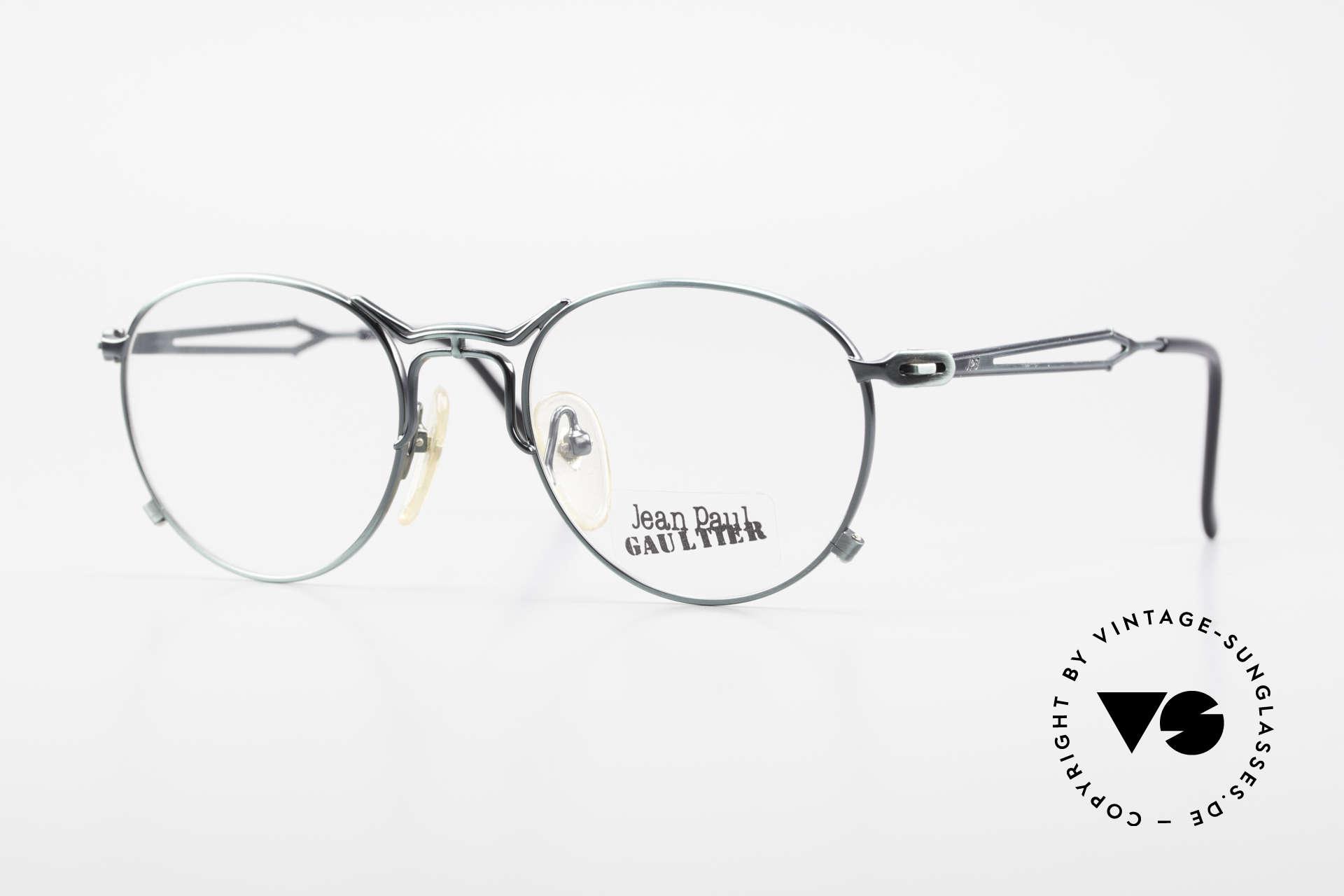 Jean Paul Gaultier 55-2177 Rare Designer Eyeglasses JPG, extraordinary vintage JP Gaultier designer eyeglasses, Made for Men and Women