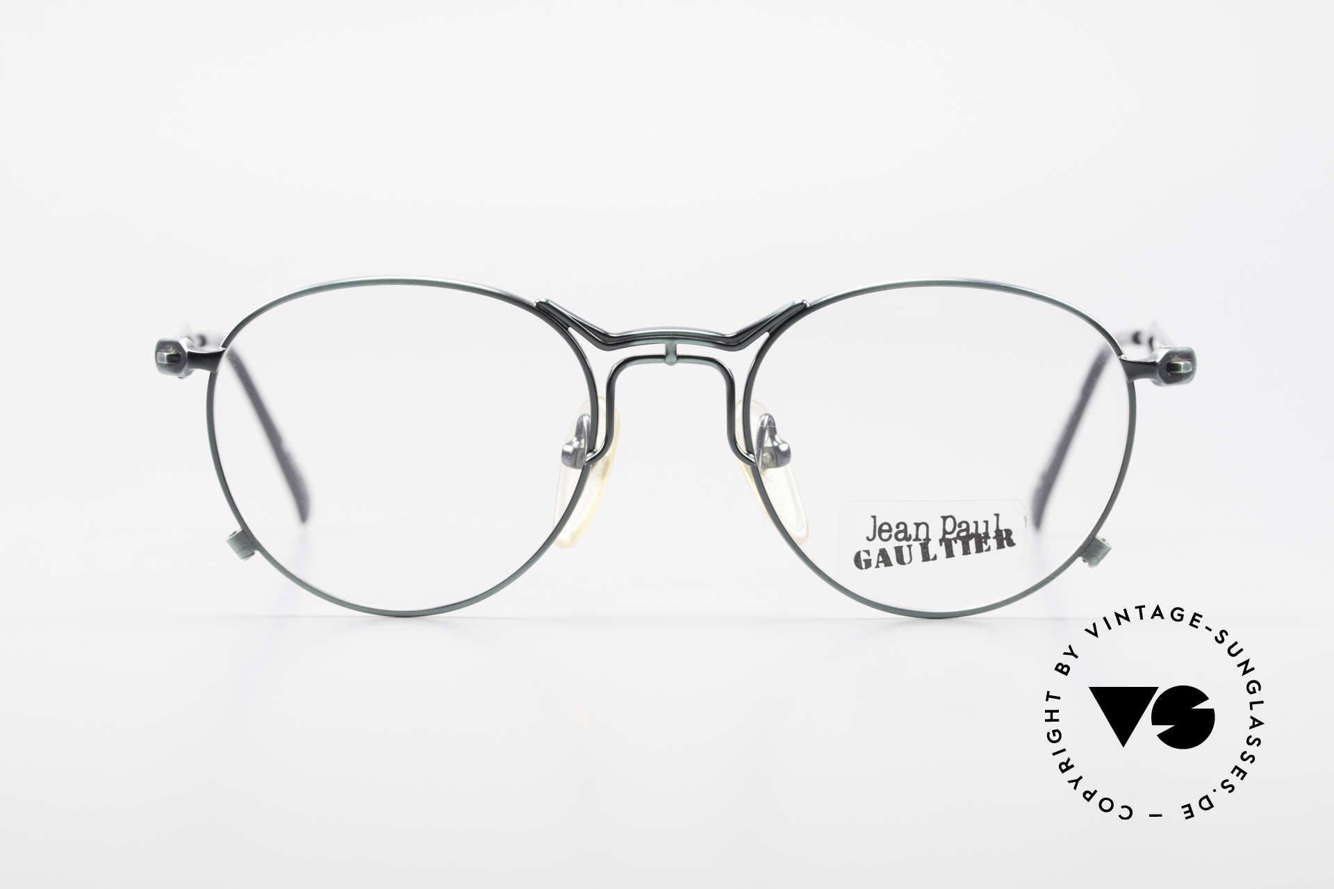 """Jean Paul Gaultier 55-2177 Rare Designer Eyeglasses JPG, costly and unique frame finish: """"FIR GREEN METALLIC"""", Made for Men and Women"""