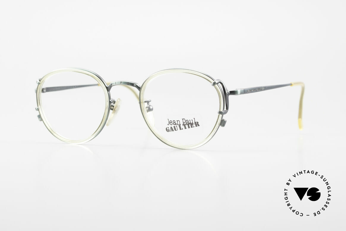 Jean Paul Gaultier 55-3271 Panto 90's Designer Glasses, vintage Jean Paul Gaultier eyeglasses, made in Japan, Made for Men and Women