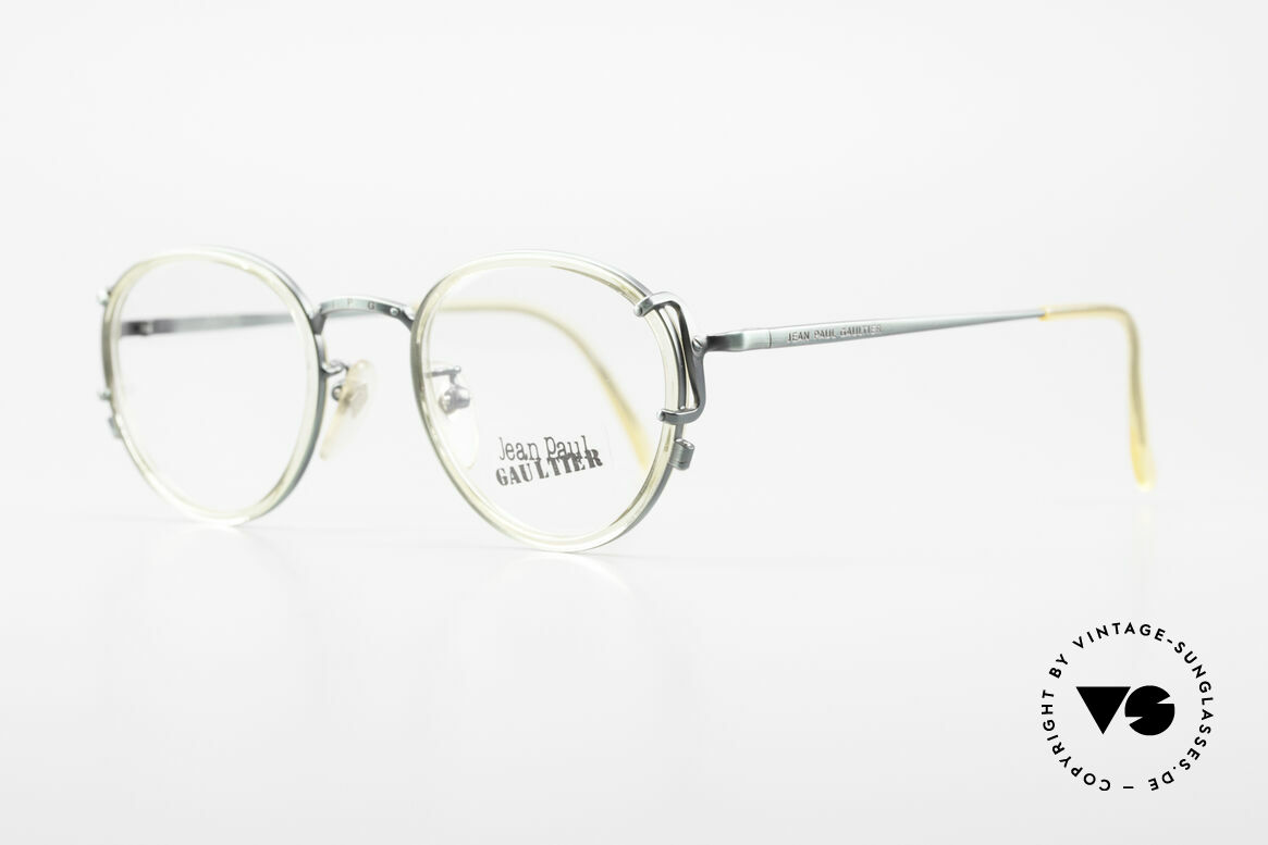 Jean Paul Gaultier 55-3271 Panto 90's Designer Glasses, high-end frame with many fancy details; see pictures, Made for Men and Women