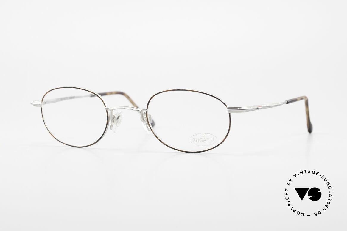 Bugatti 23547 Rare 90's Titanium Eyeglasses, very elegant vintage designer eyeglass-frame by Bugatti, Made for Men and Women
