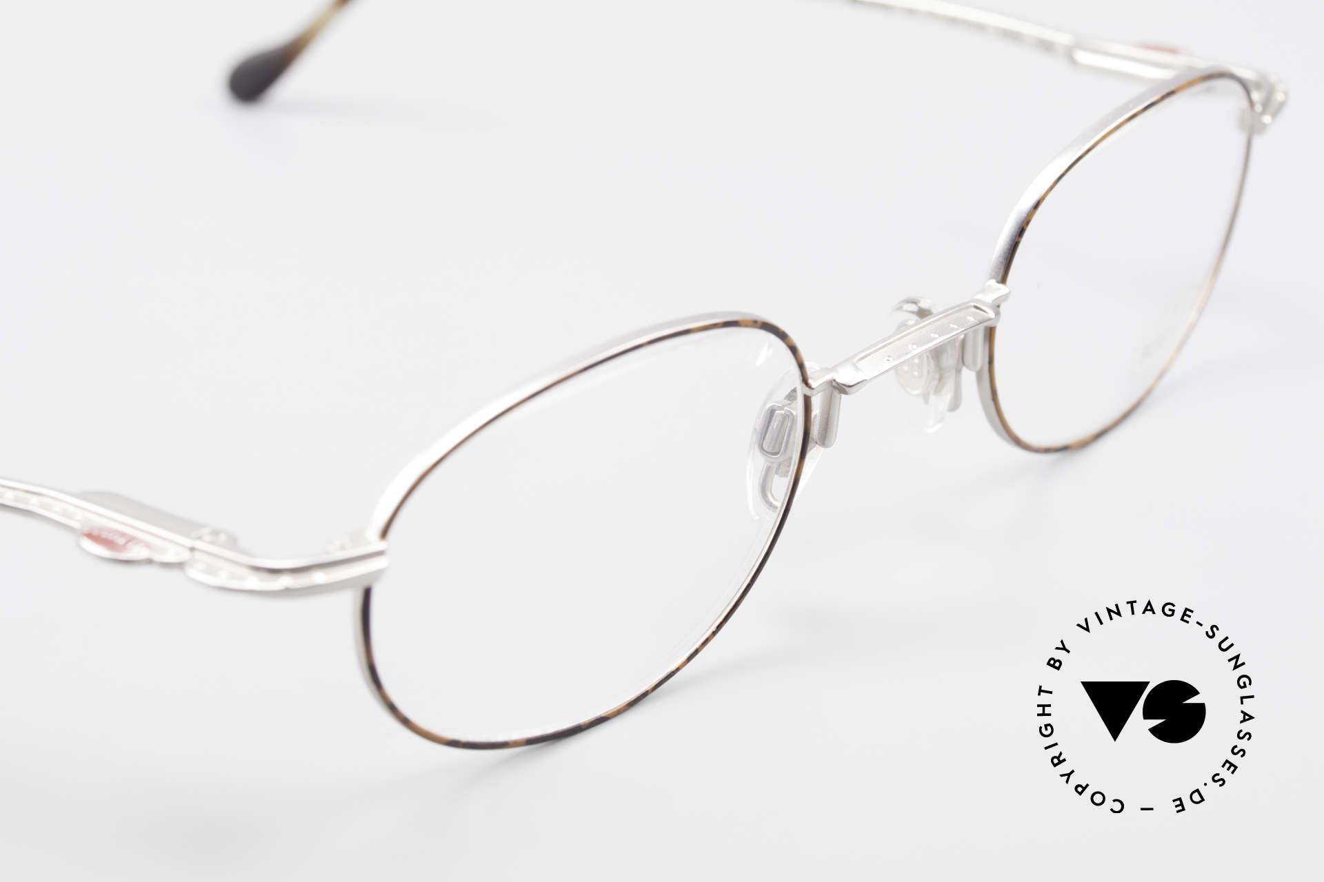 Bugatti 23547 Rare 90's Titanium Eyeglasses, unworn, NOS (like all our rare vintage Bugatti eyewear), Made for Men and Women