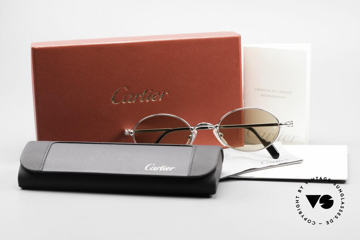 Cartier Filao Oval Platinum Sunglasses 90's, Size: medium, Made for Men and Women
