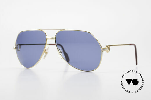 Cartier Vendome LC - L 80's Frame Black Moon Lenses Details