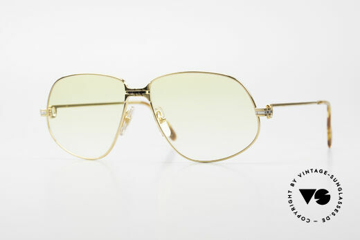 Cartier Panthere G.M. - XL Yellow Lenses And Bvlgari Case Details