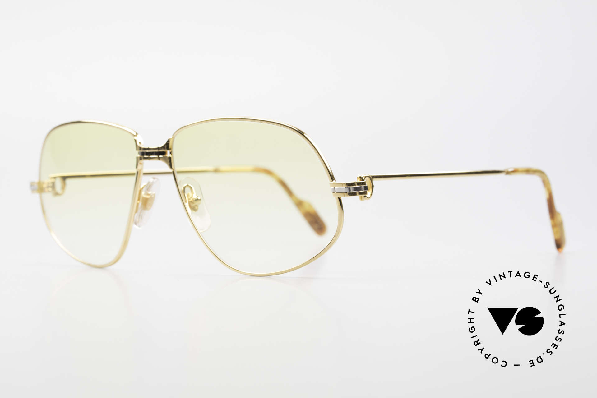 "Cartier Panthere G.M. - XL Yellow Lenses And Bvlgari Case, mod. ""Panthère"" was launched in 1988 and made till 1997, Made for Men and Women"