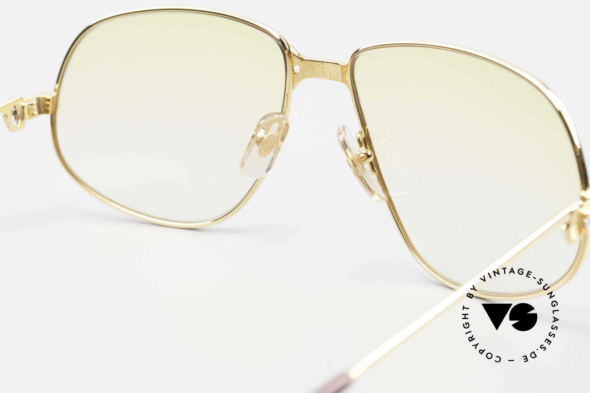 Cartier Panthere G.M. - XL Yellow Lenses And Bvlgari Case, NO RETRO eyewear; a rare 30 years old vintage ORIGINAL!, Made for Men and Women