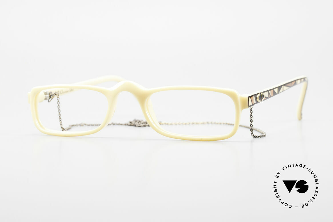 Christian Dior 2356 Reading Glasses With Chain, vintage DIOR reading glasses from 1989 with a chain, Made for Men and Women
