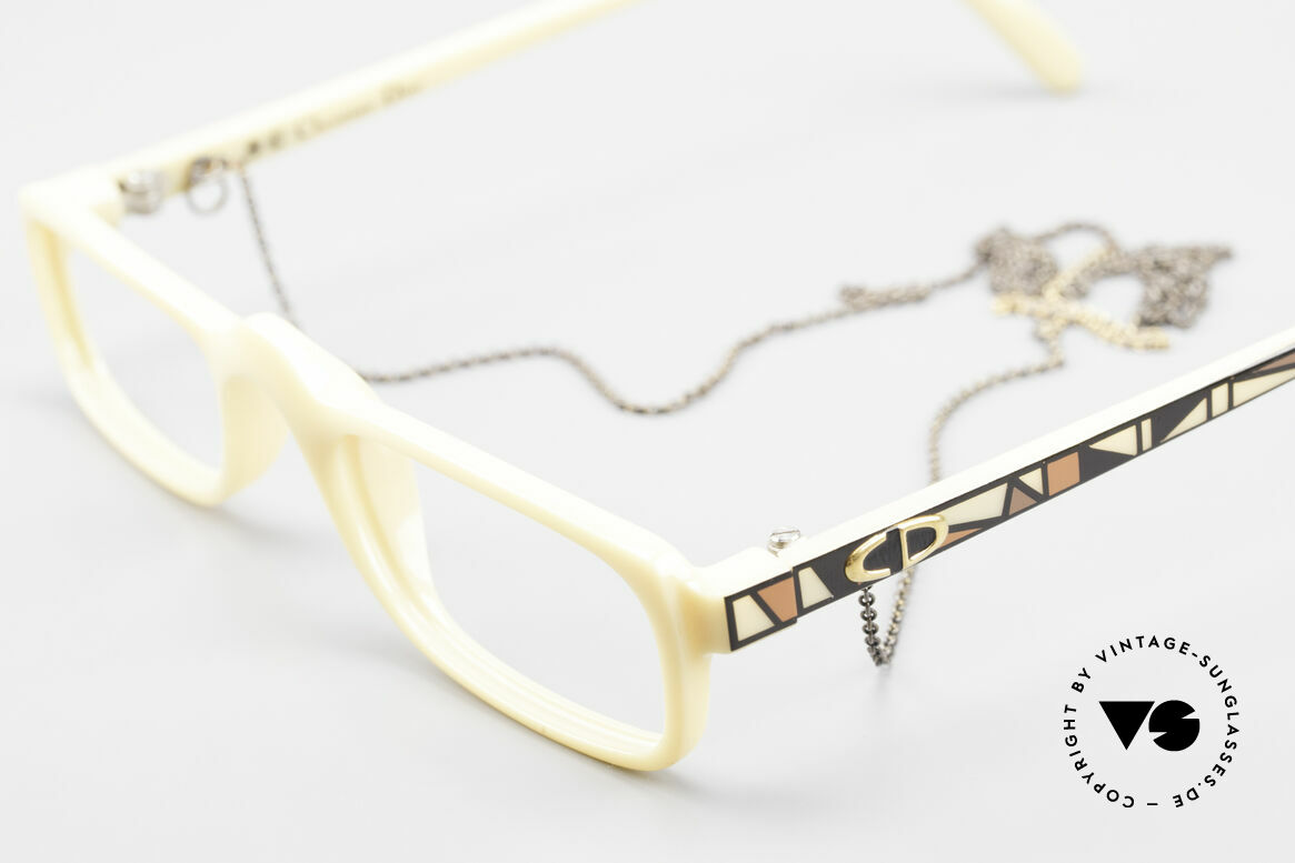 Christian Dior 2356 Reading Glasses With Chain, unique frame pattern / coloring; in SMALL size 49-20, Made for Men and Women