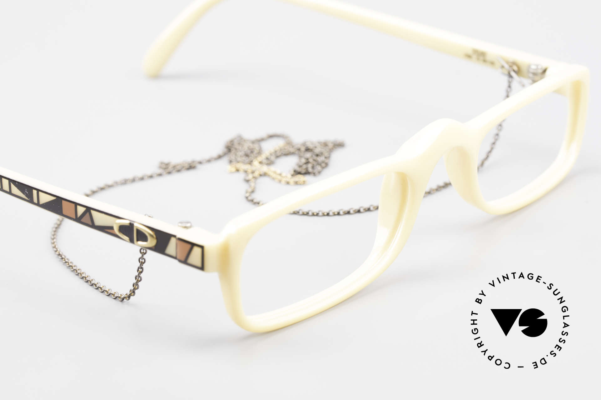 Christian Dior 2356 Reading Glasses With Chain, unworn, NOS (like all our vintage reading eyeglasses), Made for Men and Women