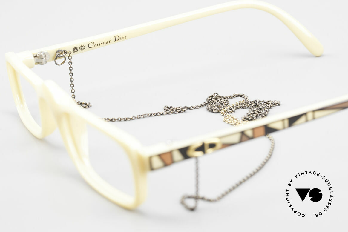 Christian Dior 2356 Reading Glasses With Chain, NO RETRO glasses, but a genuine old 1980's product!, Made for Men and Women