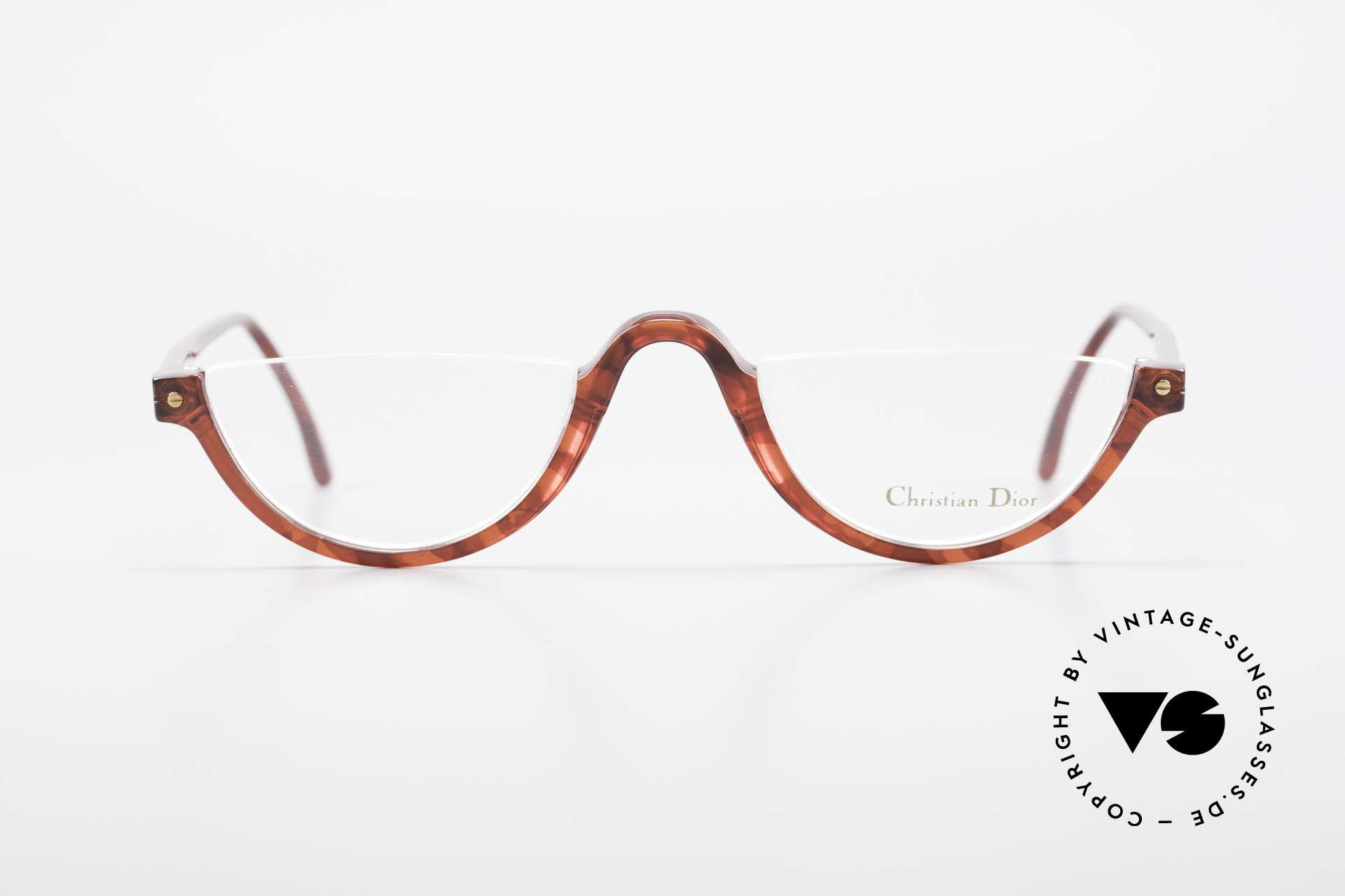 Christian Dior 2586 Reading Glasses Unisex 90's, lightweight half-frame design; ergonomically correct, Made for Men and Women