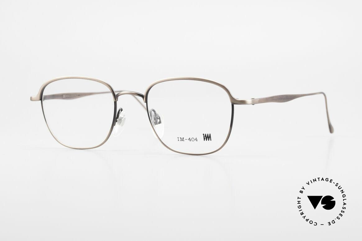 Miyake Design Studio IM404 Connoisseur Eyeglasses 90's, interesting ALL TITAN eyeglasses from 1992/93, Made for Men and Women