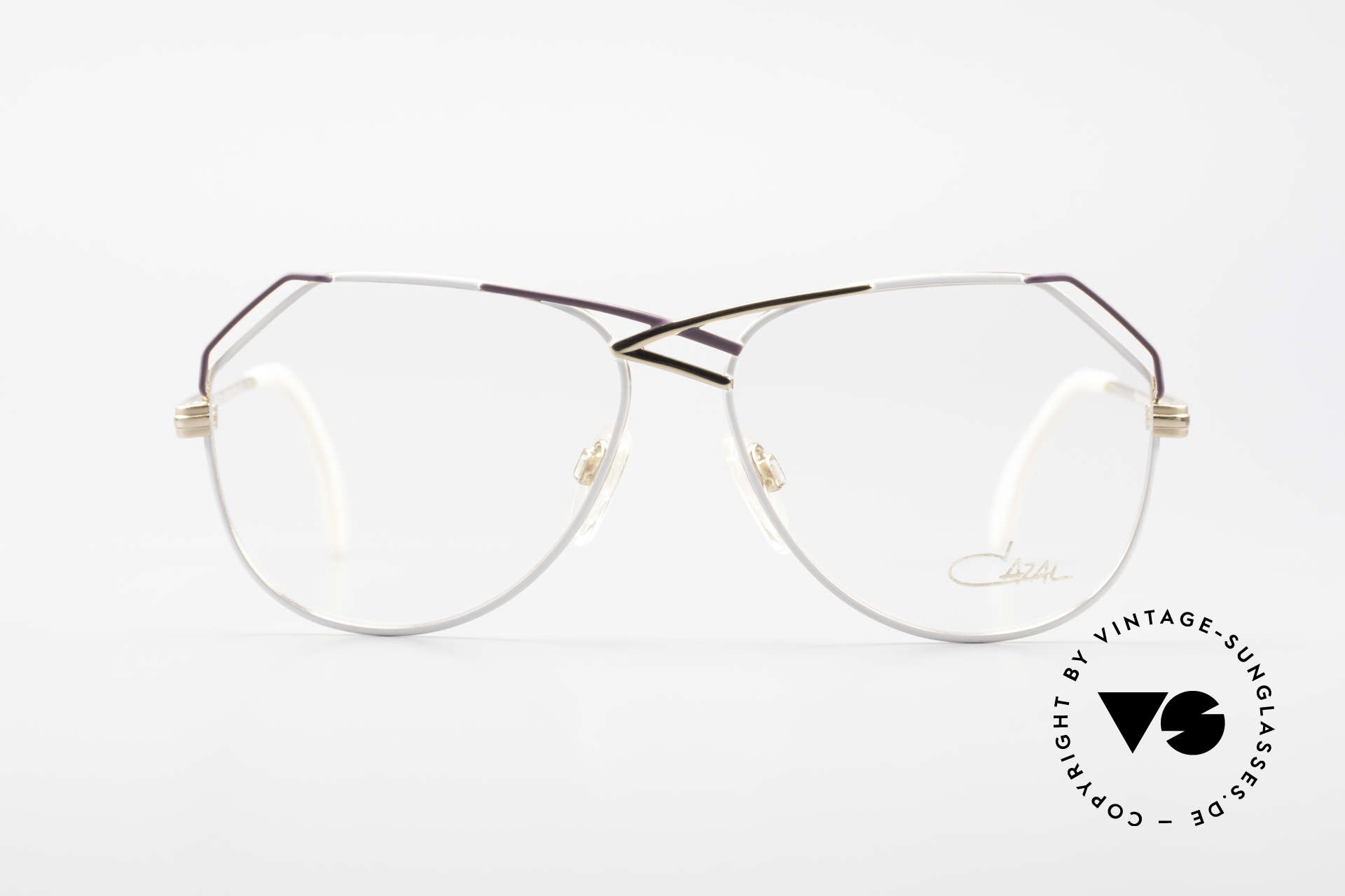 Cazal 229 West Germany Vintage Cazal, with artistic tangled bridge ('W.Germany' quality), Made for Women
