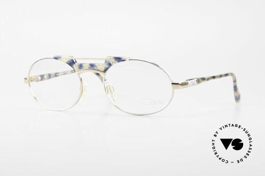 Cazal 749 Oval Designer Eyeglasses 90s Details